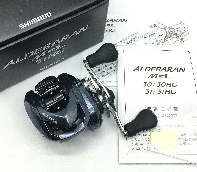 Shimano Aldebaran MGL 31HG Cebo Casting Reel de mano izquierda    Menta súperior de Japón