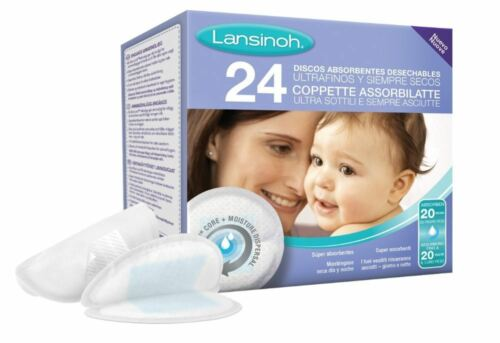 24 tampons-Pour Maternité L/'allaitement maternel Lansinoh Jetable soins infirmiers