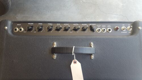 FENDER HOT ROD DELUXE//DEVILLE CONTROL PANEL OVERLAY BLACK W// WHITE LETTERS