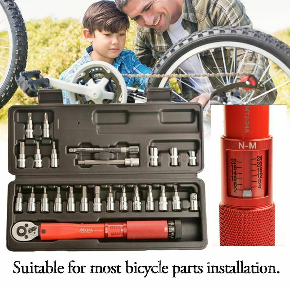 Click Adjustable Torque Single Wrench Bicycle Bike Repair Spanner Hand Tools Set