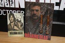 """**2 SETS** Negan """"Lucille""""/Daryl Dixon Angel Wings~~Earrings~~The Walking Dead~~"""