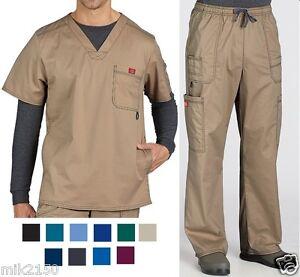 Dickies-Mens-Scrubs-Gen-Flex-Set-Top-81722-Pants-81003-Pick-Color-amp-Sizes-NWT