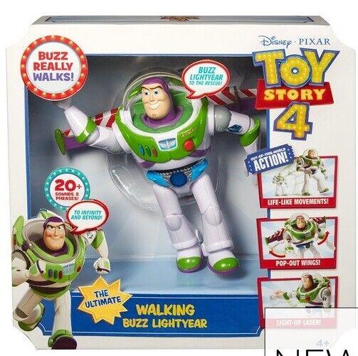 Toy Story 4 Ultimate Walking Buzz Lightyear Figure Walking And Talking NEW