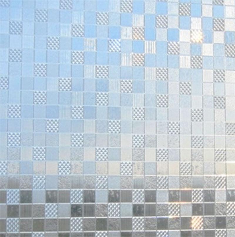 LINEA Fix Dekorfolie statische Fensterfolie GLC 1067 Karo Größenwahl Glasdekor