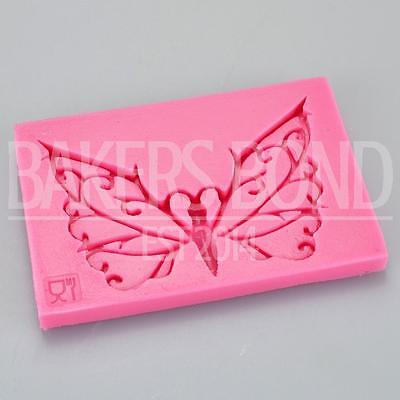 Veined Butterfly Impression Embossing Silicone Mould Cake Fondant Icing Topper