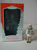 Hallmark Ornament 2002 A Winter's Ride Memories Of Christmas Chalkware