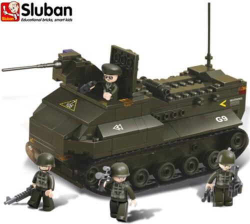 Sluban B6300 Armoured Vehicle Building Bricks Toy Set Play Army Soldier Tank New