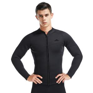 Men's 3mm Neoprene Long  Sleeve Wetsuits Tops Surf Snorkeling Jump Dive Suit Tops  online at best price