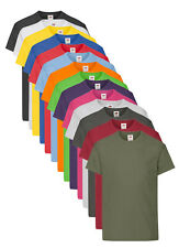 Fruit Of The Loom Childrens Kids Boys Girls Plain Cotton Tee T-Shirt Tshirt