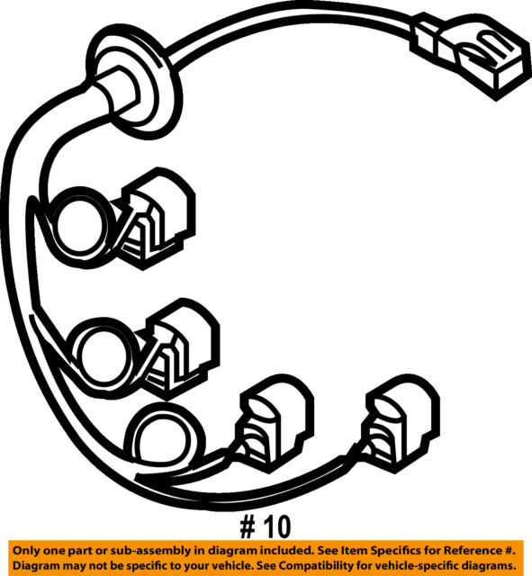 Buy 2007 2013 Volvo Xc90 Rear Bumper Wiring Harness Jumper 30678975