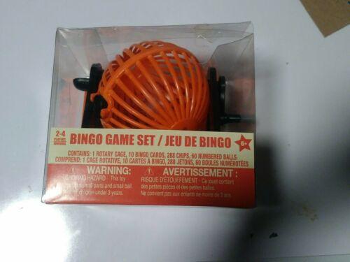 Chips /& Balls Orange Plastic Rotary Cage New Mini Bingo Game Set Bingo Cards