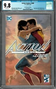 "Action Comics #1000 ""Kiss Me"" CGC 9.8 Kaare Andrews Variant VALENTINES DAY!!!"