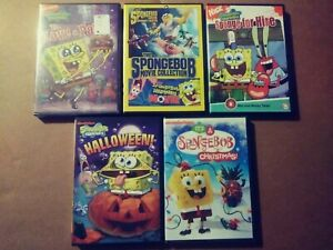 LOT-OF-5-SPONGEBOB-DVD-039-S-SPONGE-FOR-HIRE-TO-LOVE-A-PATTY-MOVIE-COLLECTION