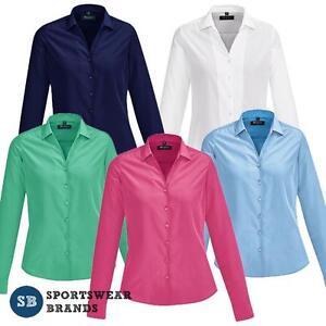 f14aea22472 Details about Boulevard Solanda Ladies Plain Long Sleeve Shirt Size 4-26  Womens Top Work 40410