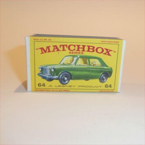 Matchbox Lesney 64 b MG Morris 1100 Empty Repro E Style Box