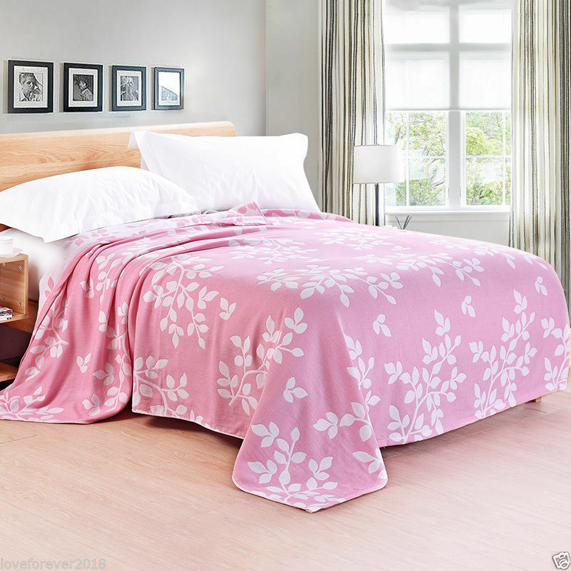 100% Cotton Blanket Good Permeability Summer Air Conditioning Blanket Lit01