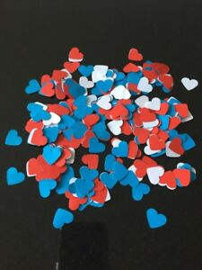 600 Red White Blue Paper Hearts Wedding Table Decoration Confetti