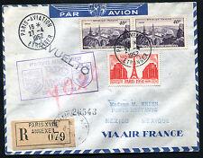 """1952 - Aerogramma """"Primo volo aereo diretto PARIGI-MESSICO"""""""
