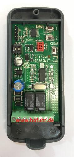 CAME externer Funkempfänger 2-Kanal 12//24V AC//DC 433Mhz RE432M TRE432