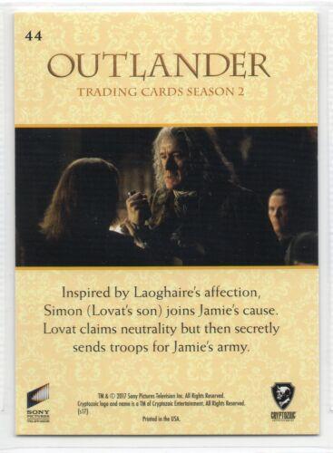 Outlander Season 2 RAINBOW FOIL BASE Card #44 2017 PLAYING BOTH SIDES