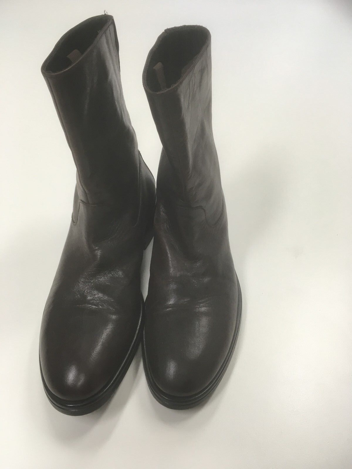 759 Giorgio Armani brown leather pull-on boots - size 9 , 42 EUR