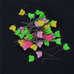 50pcs-Hemline-Flower-Head-Pins-Long-Sewing-Dressmaking-Quilting-Patchwork-IronFD