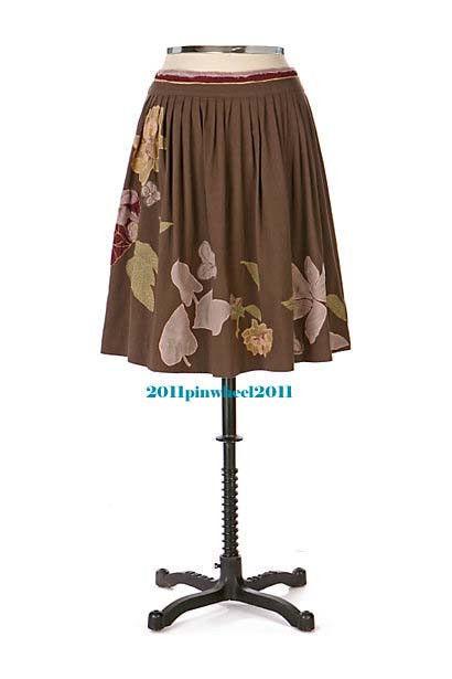2006 Rare  Anthropologie  Leaf Season Skirt  8