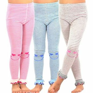 9501e8ee6c7ff TeeHee Kids Girls Fashion Footless Tights 3 Pair Pack Happy Striped ...