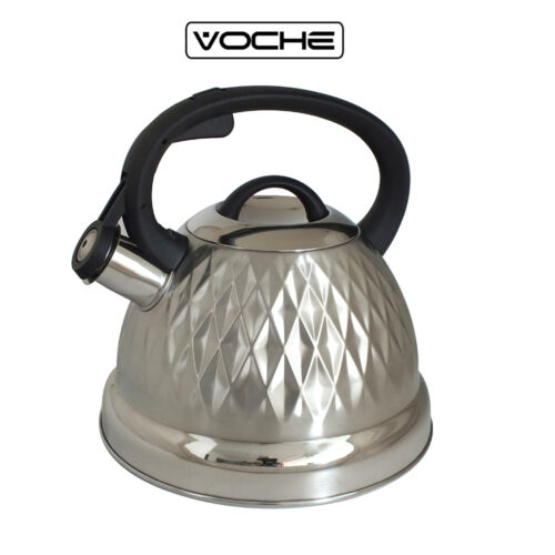 VOCHE® 3 LITRE STAINLESS STEEL WHISTLING KETTLE GAS ELECTRIC INDUCTION
