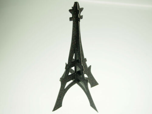 Eiffel Tower 3D Glitter Cut Out French France Parisian Wedding Black Silver Gold