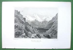 SWITZERLAND-Alps-Lake-Toma-Tomasee-1853-Antique-Print-Engraving