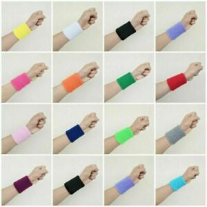 1-x-Sports-Basketball-Unisex-Cotton-Sweat-Band-Sweatband-Wristband-Wrist-Band-Bs