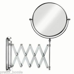 Image Is Loading IKEA Extendable Magnifying Bathroom Mirror NEW Stainless Steel