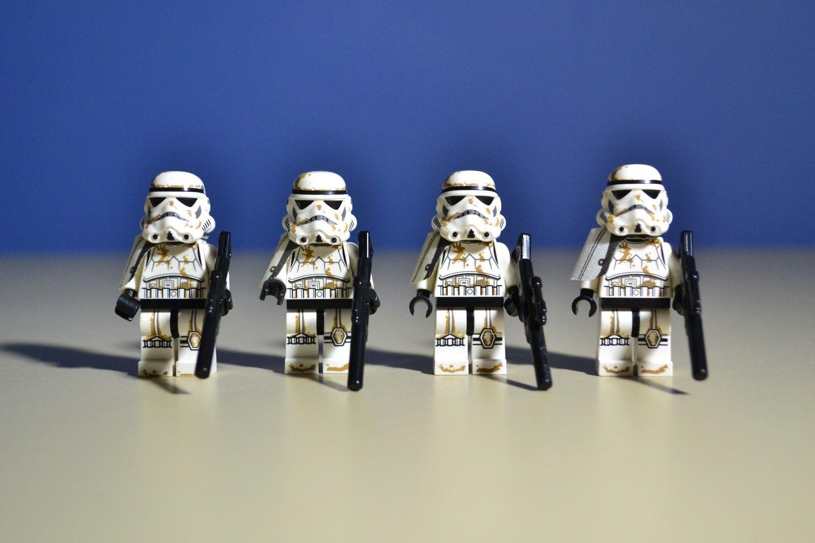 Lego Star Wars Sandtrooper Sergeant  Minifigures Lot x 4  White 9490 W Guns
