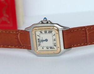 Cartier-Panthere-Ladies-Watch-Steel-Gold-Quartz