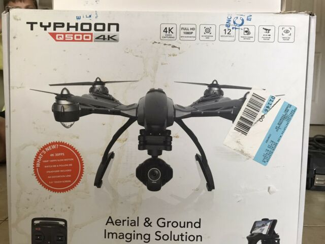 Yuneec Q500 4K Typhoon Quadcopter with CGO3-GB Camera, SteadyGrip