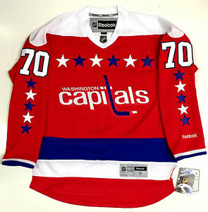 reputable site 17e05 42e5e Details about BRADEN HOLTBY WASHINGTON CAPITALS REEBOK PREMIER HOME THIRD  JERSEY NEW WITH TAGS