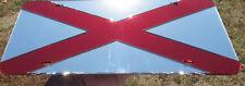 ALABAMA STATE FLAG CUSTOM MIRRORED CHROME LASER CUT LICENSE PLATE INLAID ACRYLIC
