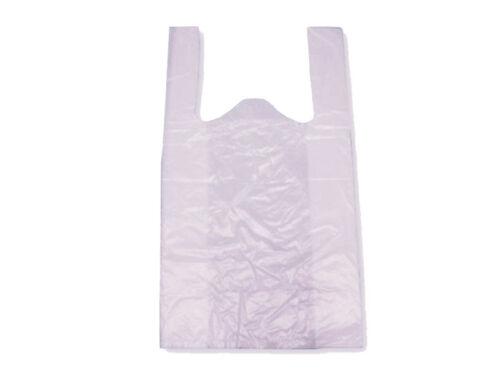 432058 100 LDPE Shopper Bags Tüte Tragetasche Hemdchen 28x14x48cm