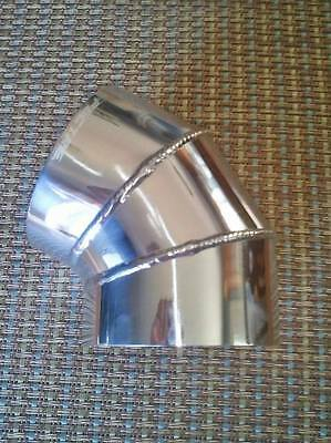 """Air Intake Tube 3.5/"""" O.D 22 Degree Elbow Polished Aluminum 9529 Pipe"""