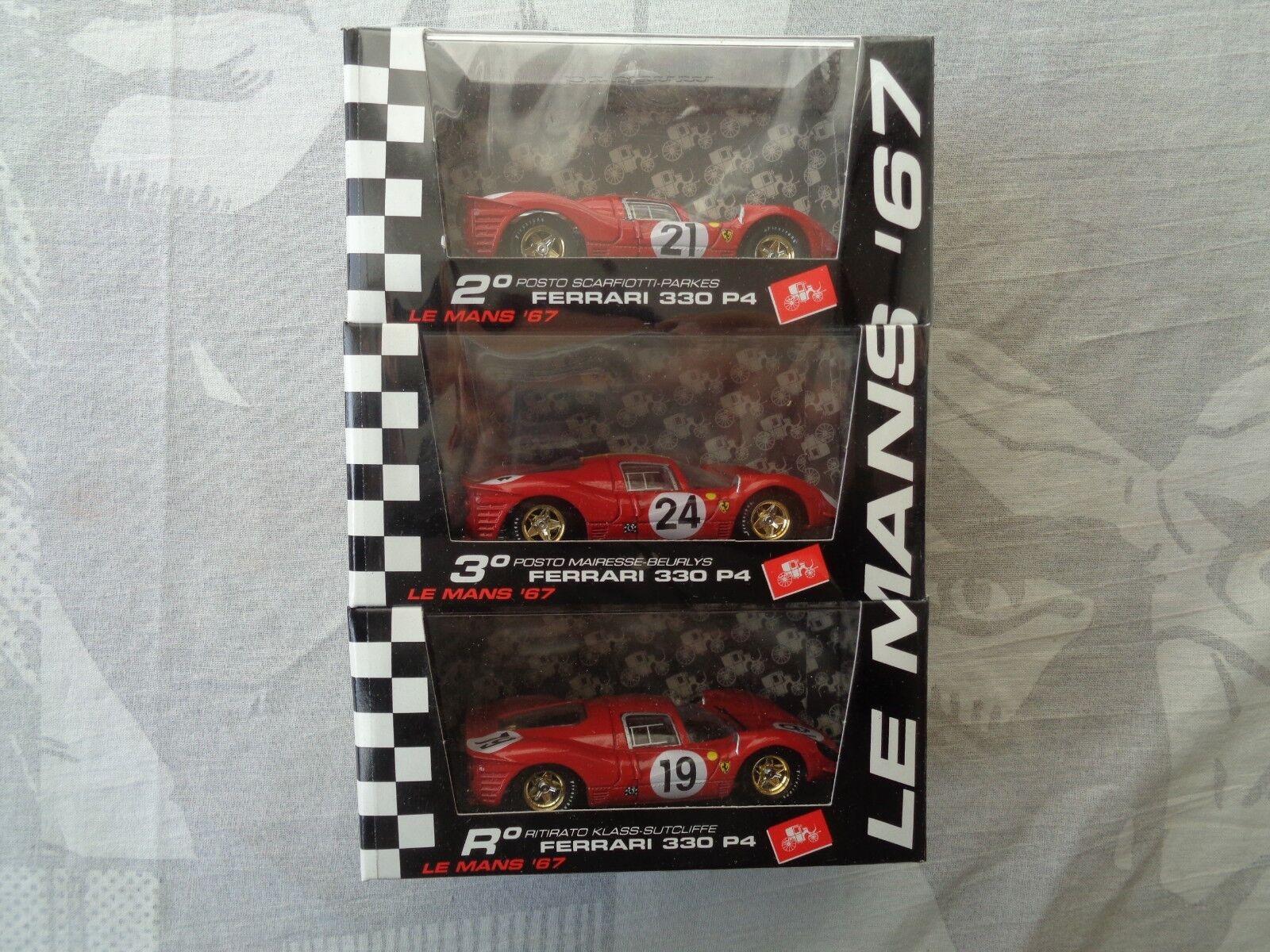3 Ferrari 330 p4 Le Mans 67 Brumm Limited Edition 5000 pieces No. 2372 Scale 1 43