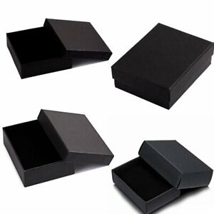 Details About Small Black Jewellery Gift Bo Brooch Ring Earring Jewelry Box Whole