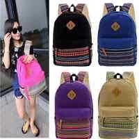 Womens Lady Canvas Travel Backpack College Shoulder Bag Fashion Satchel Rucksack