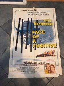 FACE OF A FUGITIVE 1sh '59 western Fred MacMurray | eBay