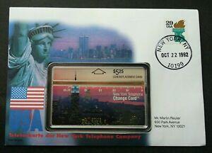 [SJ] USA Liberty 1992 FDC (phonecard stamp cover)