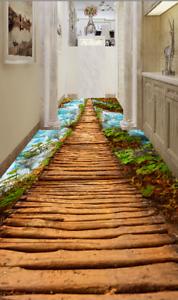 Puente de sol río 3D 5 Impresión De Parojo Papel Pintado Mural de piso 5D AJ Wallpaper Reino Unido Limón
