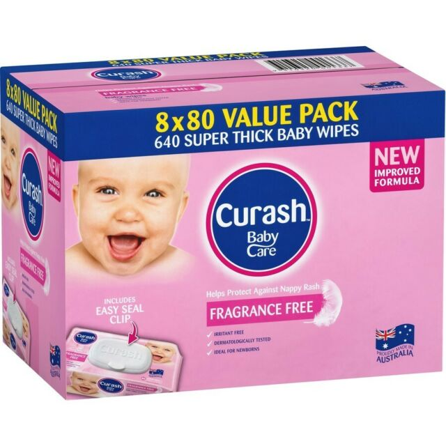Curash Babycare Baby Wipes 640 Pack - Fragrance Free