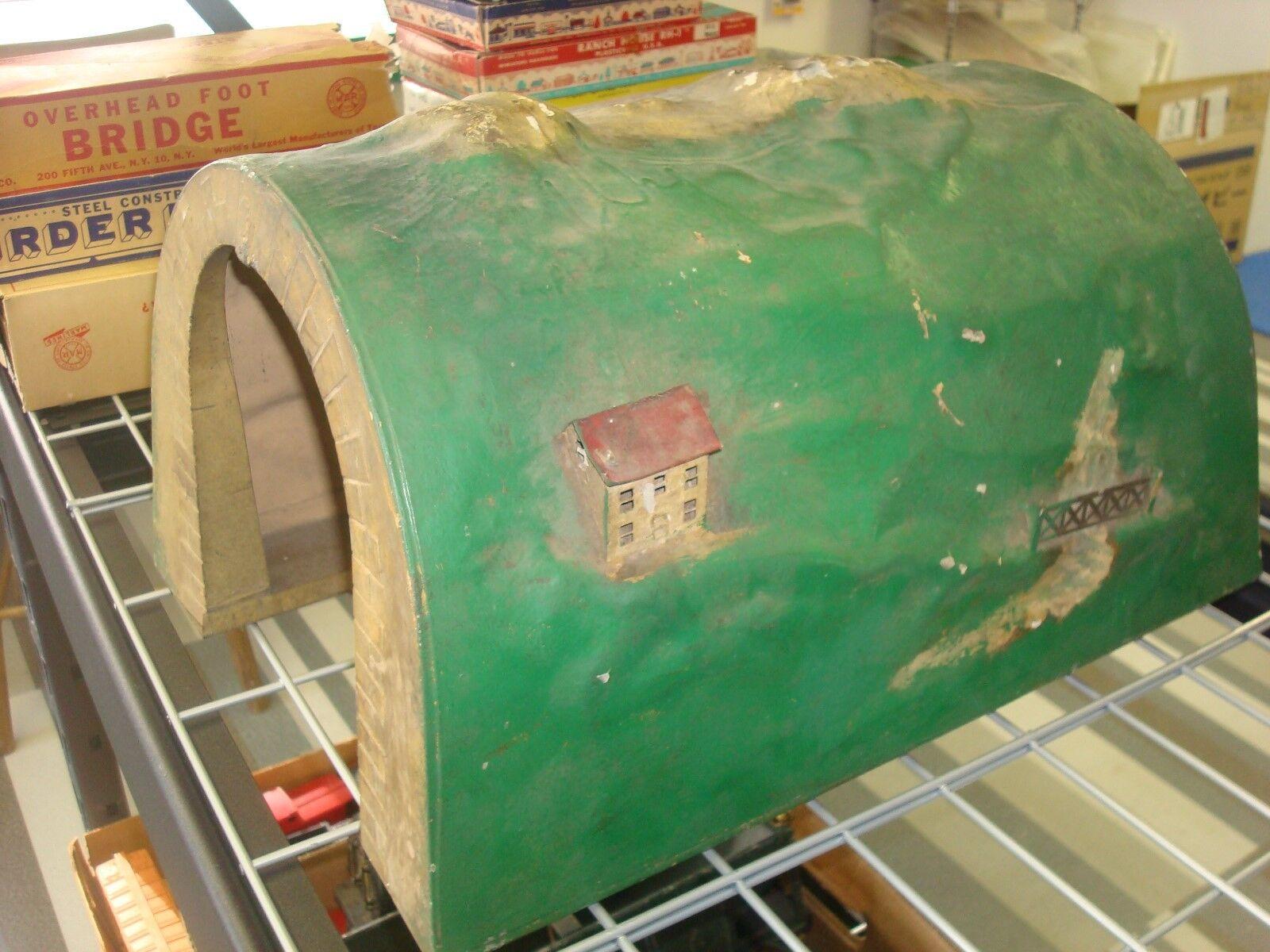 VINTAGE 1920'S Lionel Standard Gauge Pre War Factory Hand Painted METAL TUNNEL