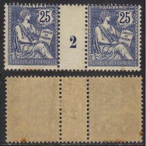 TYPE-MOUCHON-1902-127-25-C-BLEU-PAIRE-MILLESIME-COTE-350-ref-2923