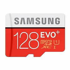 Samsung 128GB EVO-Plus micro-SDXC Class 10 UHS-I [U1] Memory Card inc SD Adapter